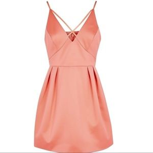 NEW Topshop Coral Cocktail Party Mini Dress 6P